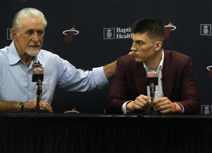 Pat Riley Knows Tyler Herro Isn't Going Anywhere