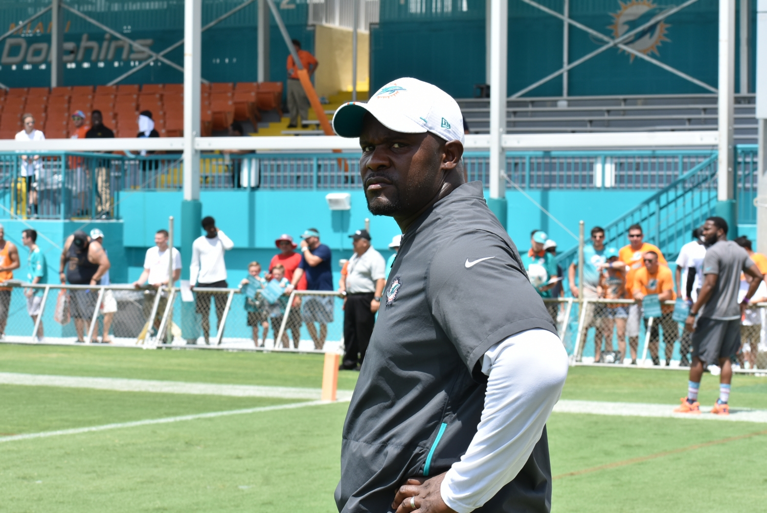 Brian Flores indicated this week that Josh Rosen isn't ready to be the Dolphins' quarterback. (Photo/Tony Capobianco)