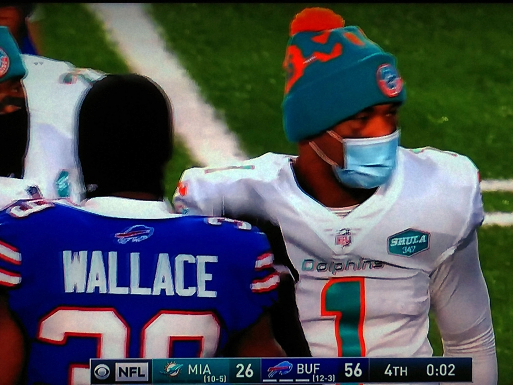 Tua Tagovailoa left the final game of his rookie season with a bitter taste after the Dolphins were routed by the Bills.
