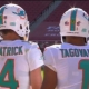 Changing of the guard at quarterback from the Miami Dolphins as Tua Tagovailoa takes over.