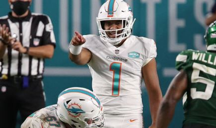 Tua Tagovailoa made his debut in a brief appearance, but the big story of the Miami Dolphins is their rise as a playoff contender.